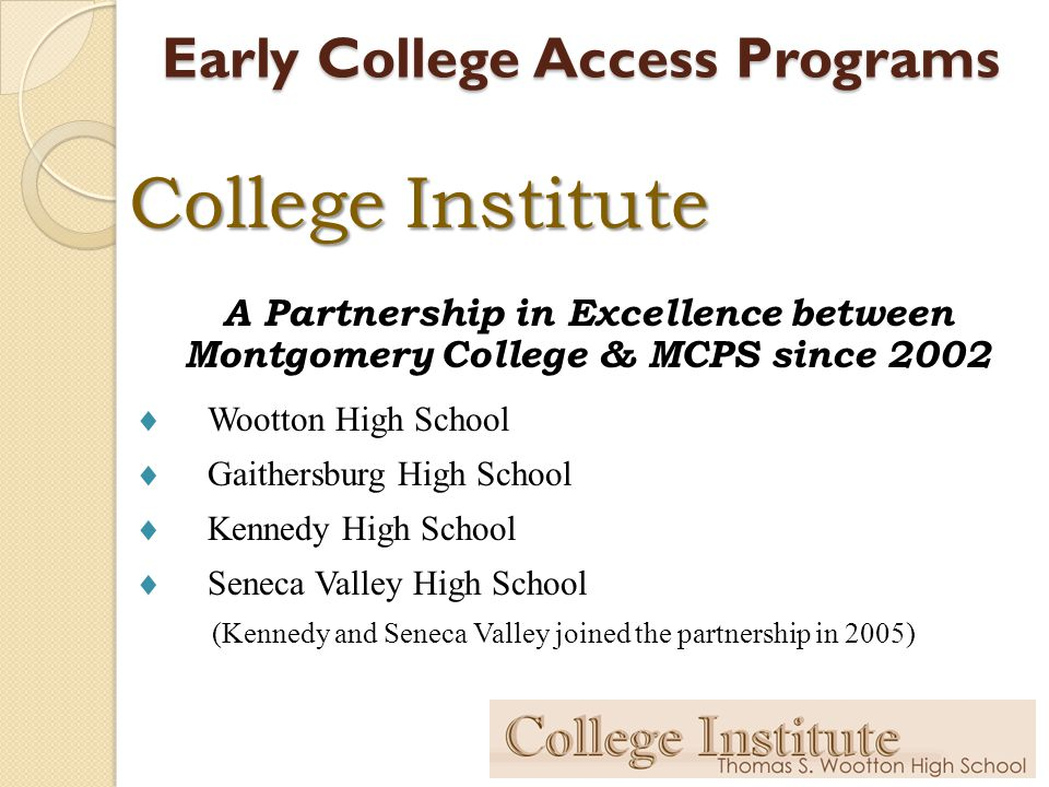 Early College Access Programs