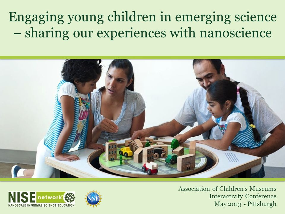 Engaging young children in emerging science – sharing our experiences with nanoscience