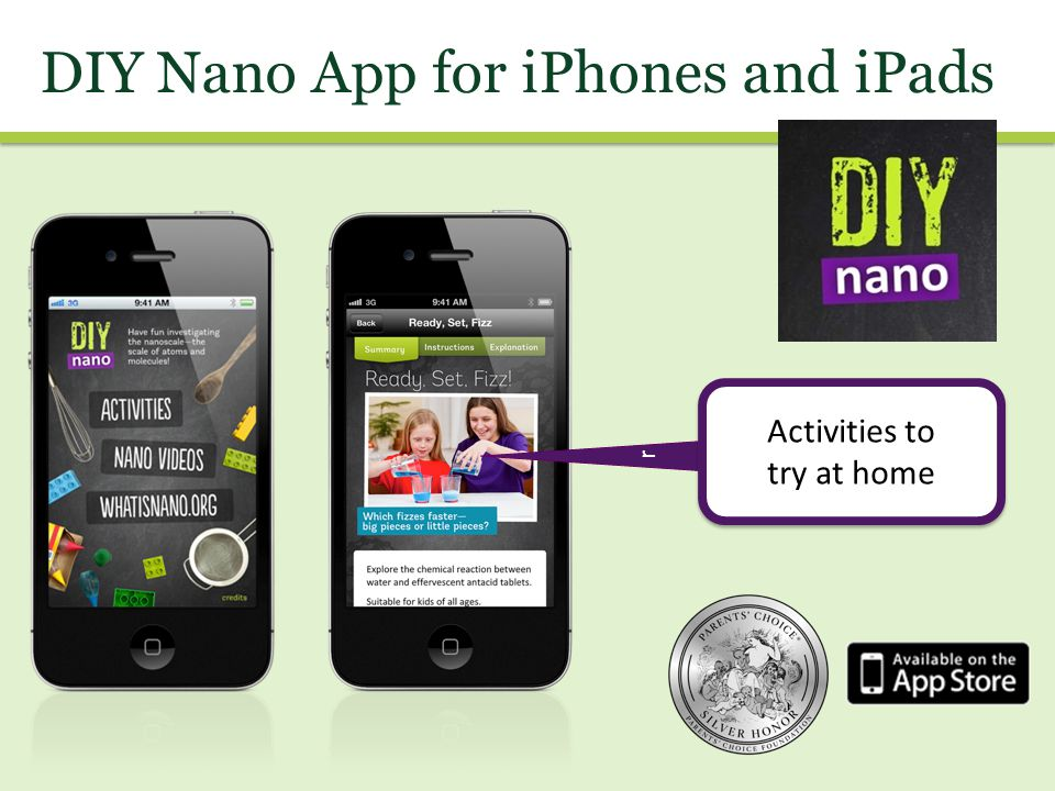 DIY Nano App for iPhones and iPads