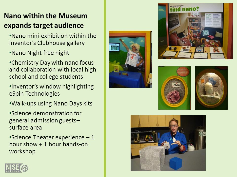 Nano within the Museum expands target audience