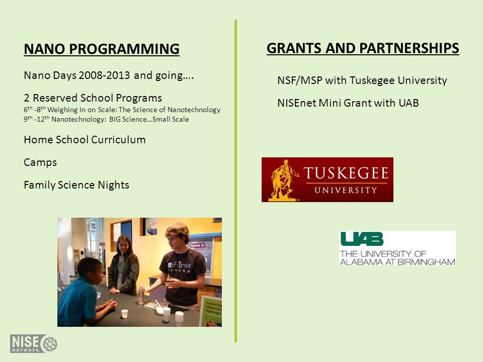 GRANTS AND PARTNERSHIPS
