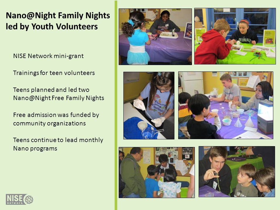 Nano@Night Family Nights led by Youth Volunteers
