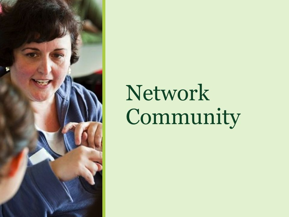 Network Community ----- Meeting Notes (5/1/13 15:15) -----