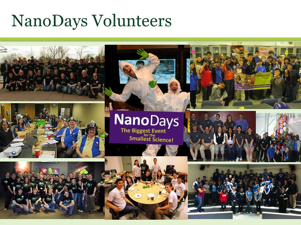 NanoDays Volunteers We asked partners to send us photos of their NanoDays events –here are just a few.