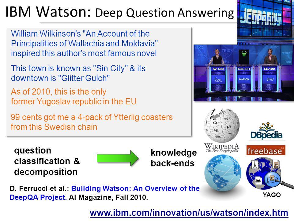 IBM Watson: Deep Question Answering