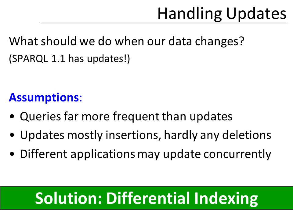 Solution: Differential Indexing