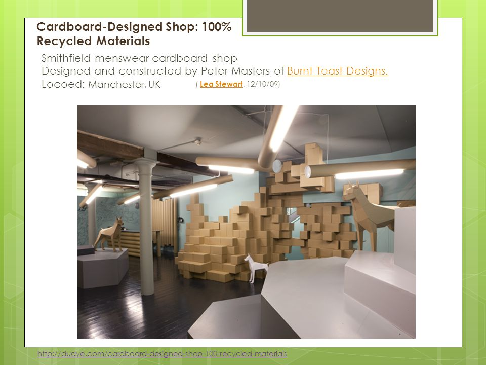 Cardboard-Designed Shop: 100% Recycled Materials