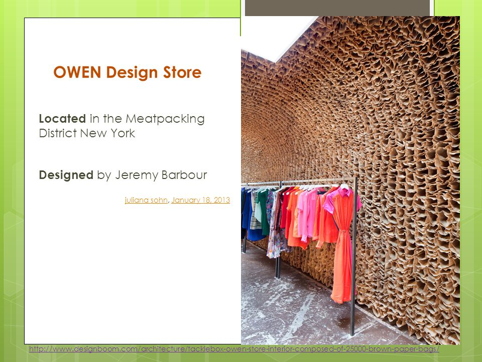 OWEN Design Store Located in the Meatpacking District New York