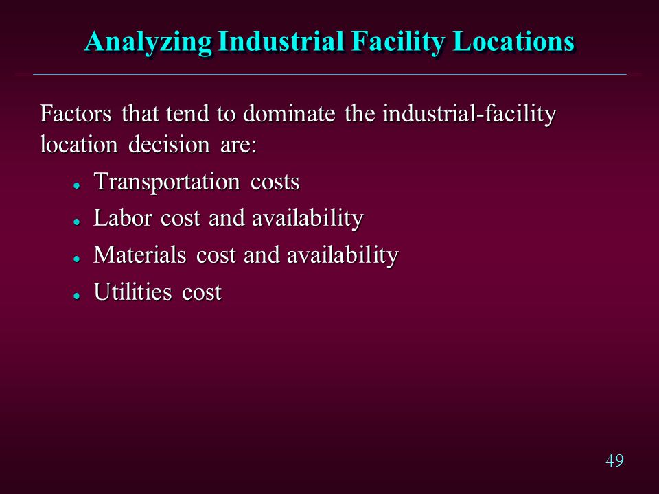 Analyzing Industrial Facility Locations