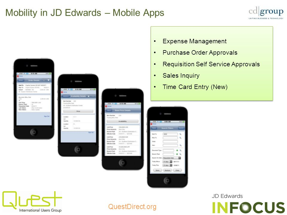 Mobility in JD Edwards – Mobile Apps