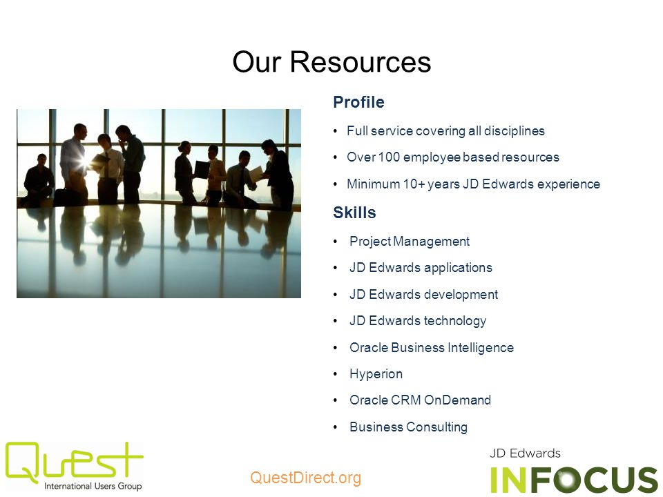 Our Resources Profile Skills Full service covering all disciplines