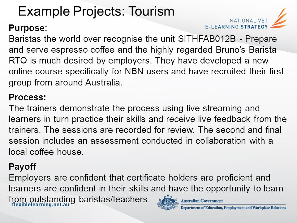 Example Projects: Tourism