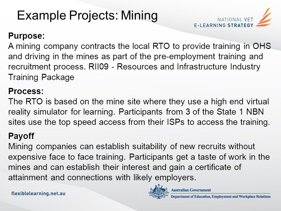 Example Projects: Mining