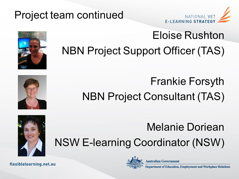 Project team continued