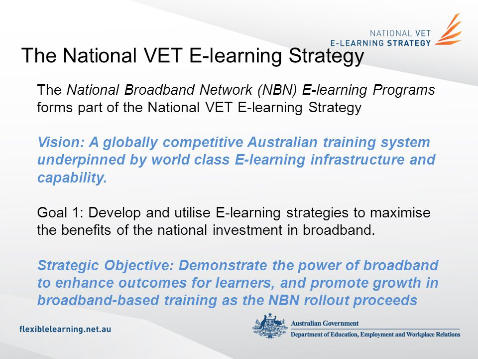 The National VET E-learning Strategy