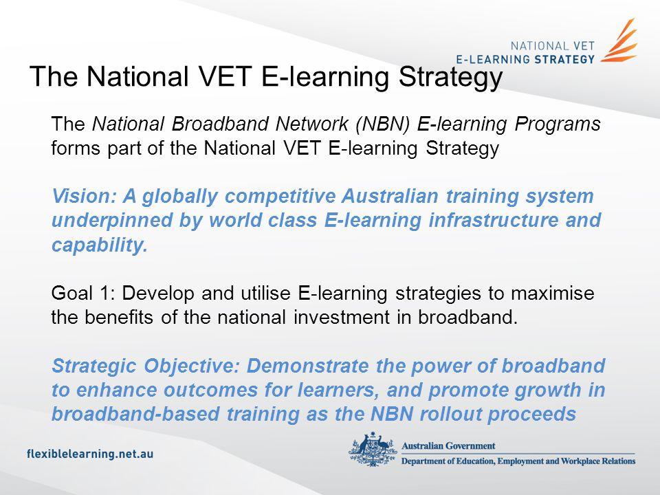 The National VET E-learning Strategy