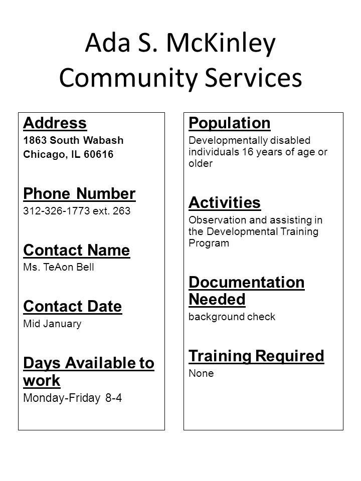 Ada S. McKinley Community Services