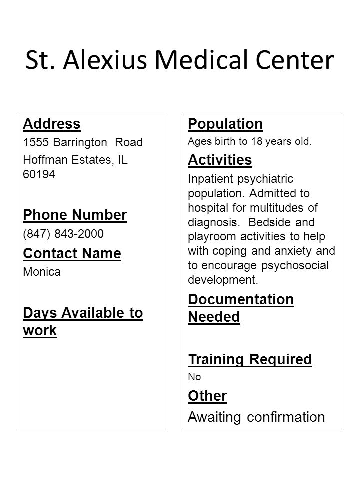 St. Alexius Medical Center