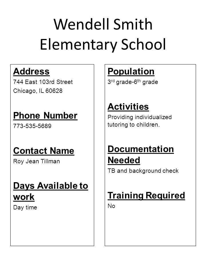 Wendell Smith Elementary School