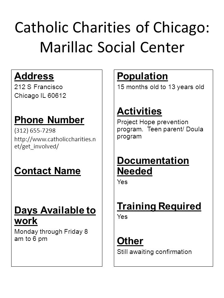 Catholic Charities of Chicago: Marillac Social Center