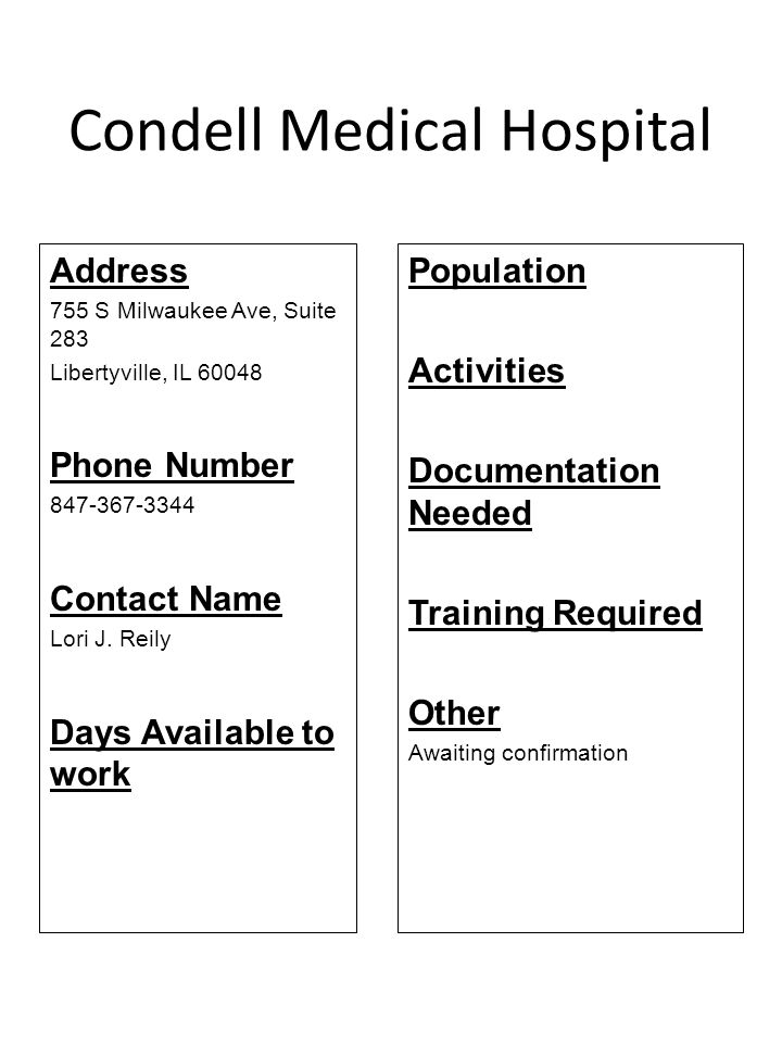 Condell Medical Hospital