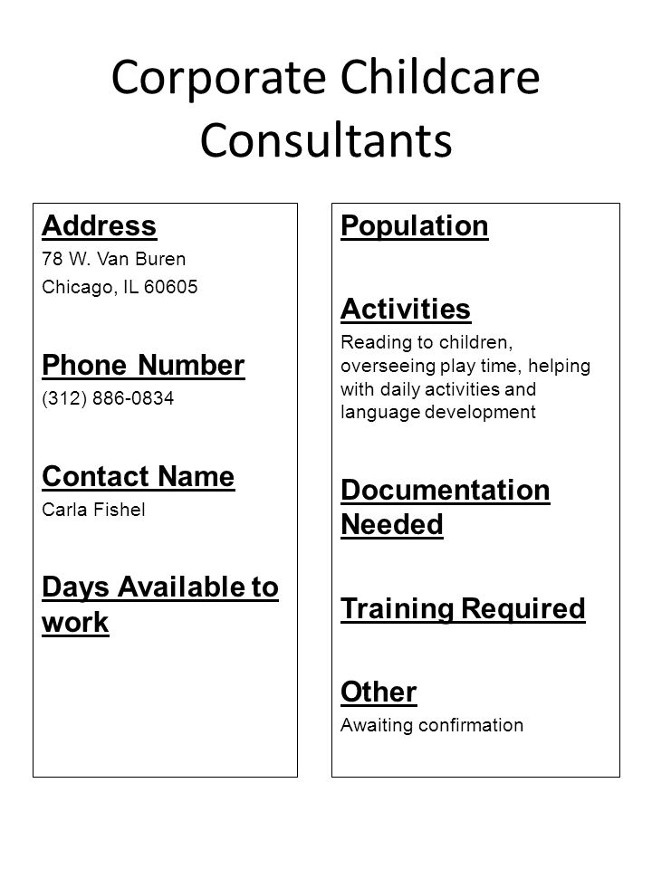 Corporate Childcare Consultants