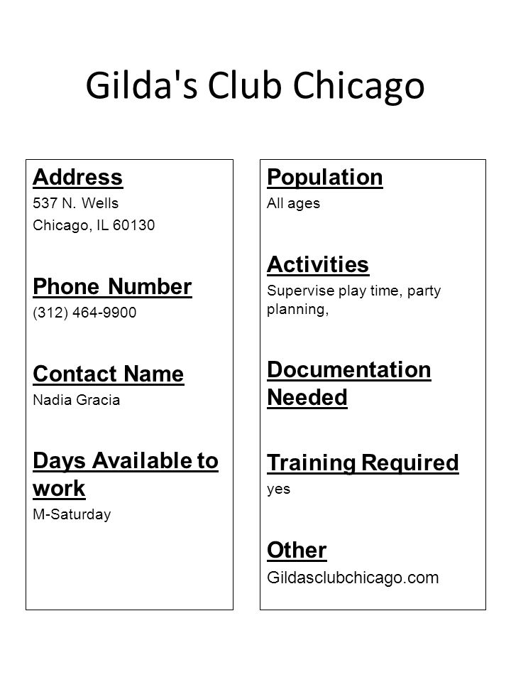 Gilda s Club Chicago Address Phone Number Contact Name