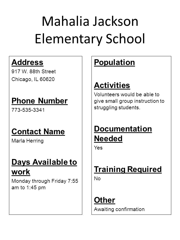 Mahalia Jackson Elementary School