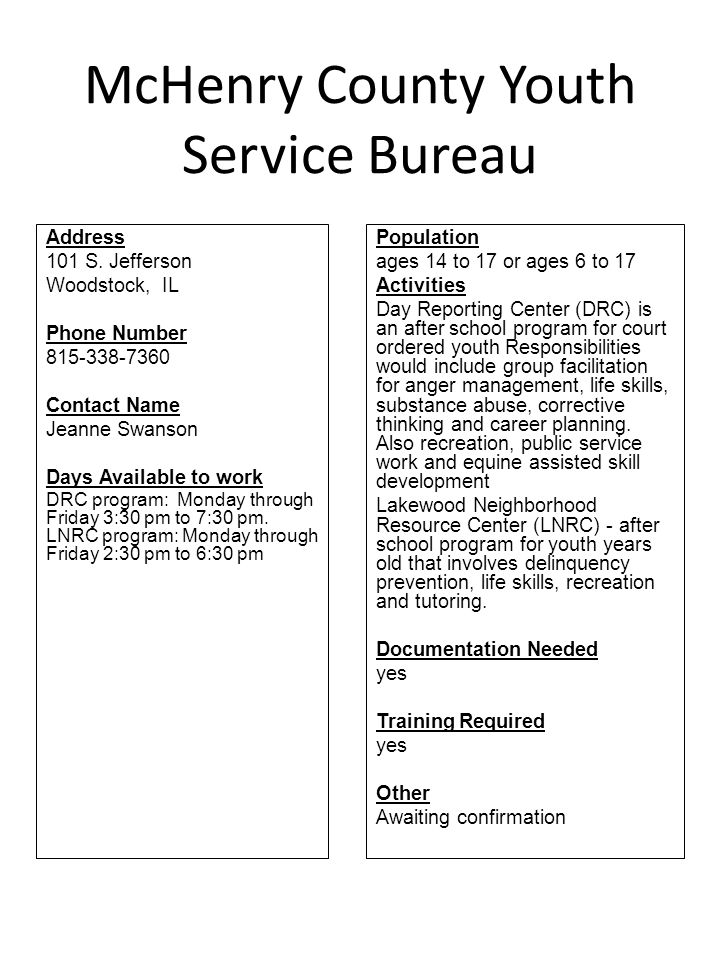 McHenry County Youth Service Bureau