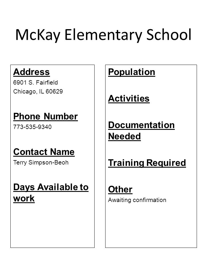 McKay Elementary School