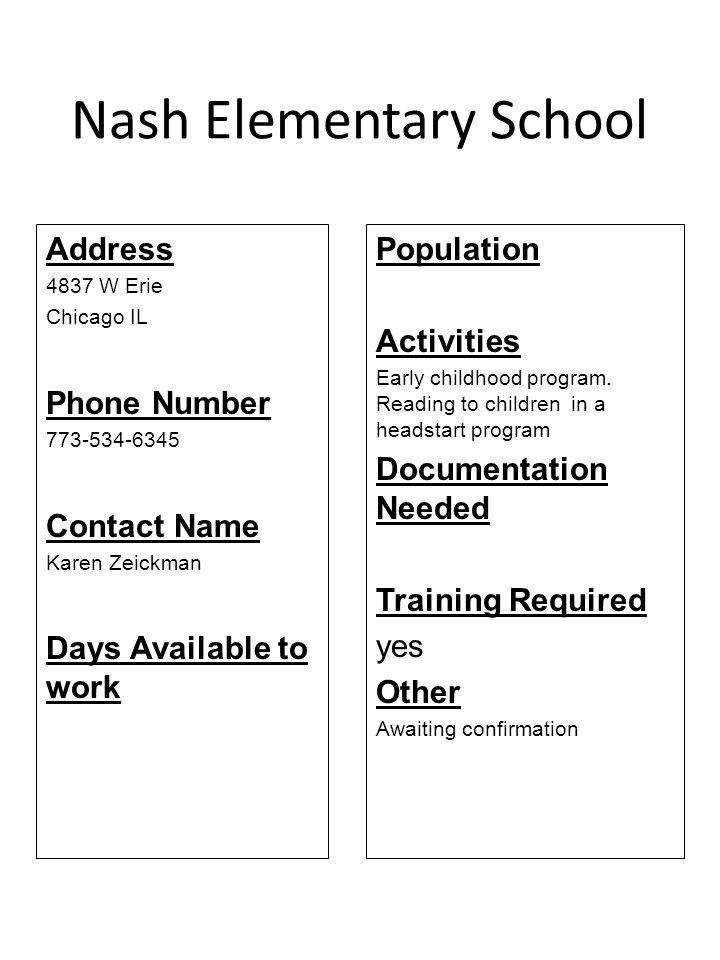 Nash Elementary School