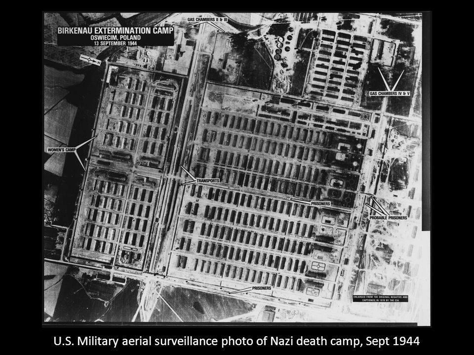 U.S. Military aerial surveillance photo of Nazi death camp, Sept 1944