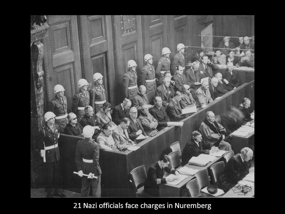21 Nazi officials face charges in Nuremberg