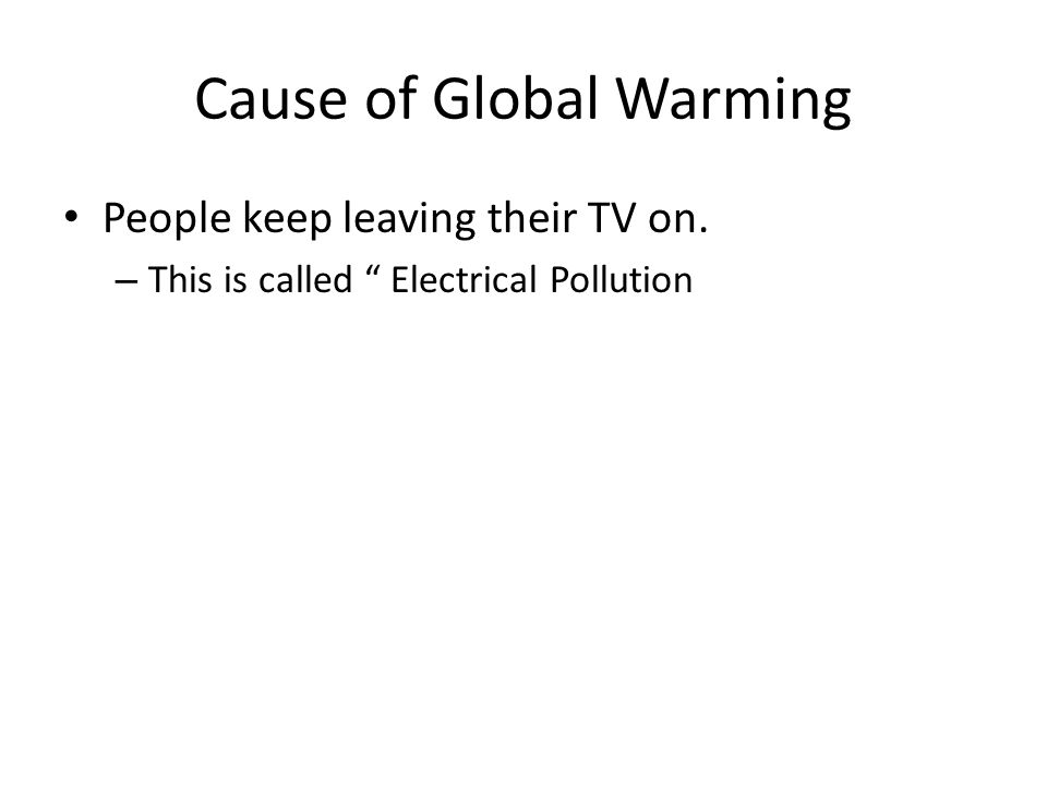 Cause of Global Warming