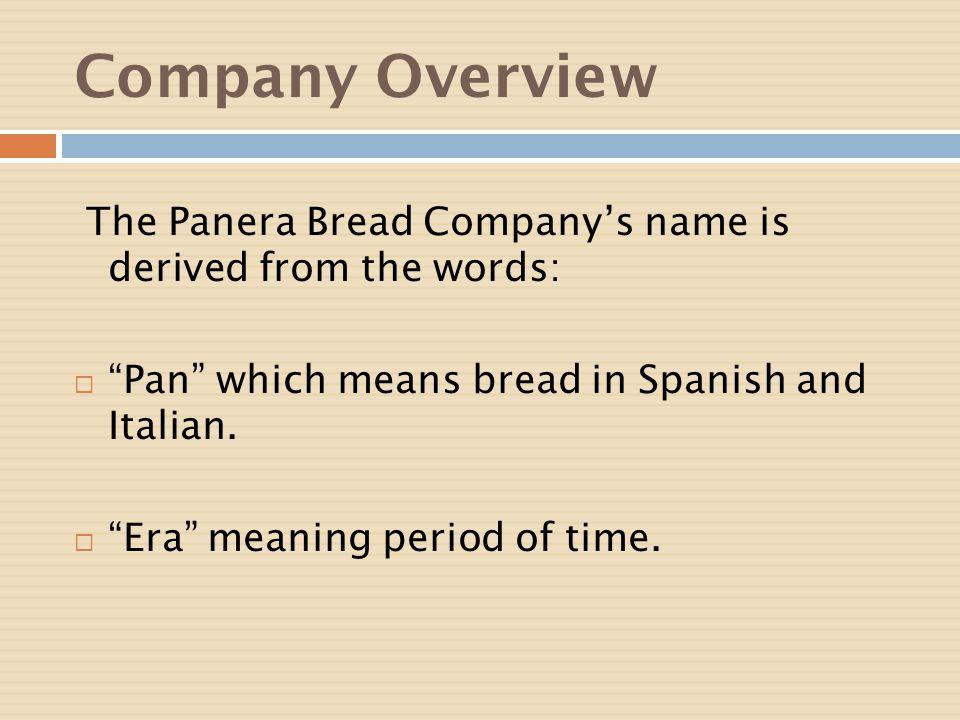 panera bread case study powerpoint