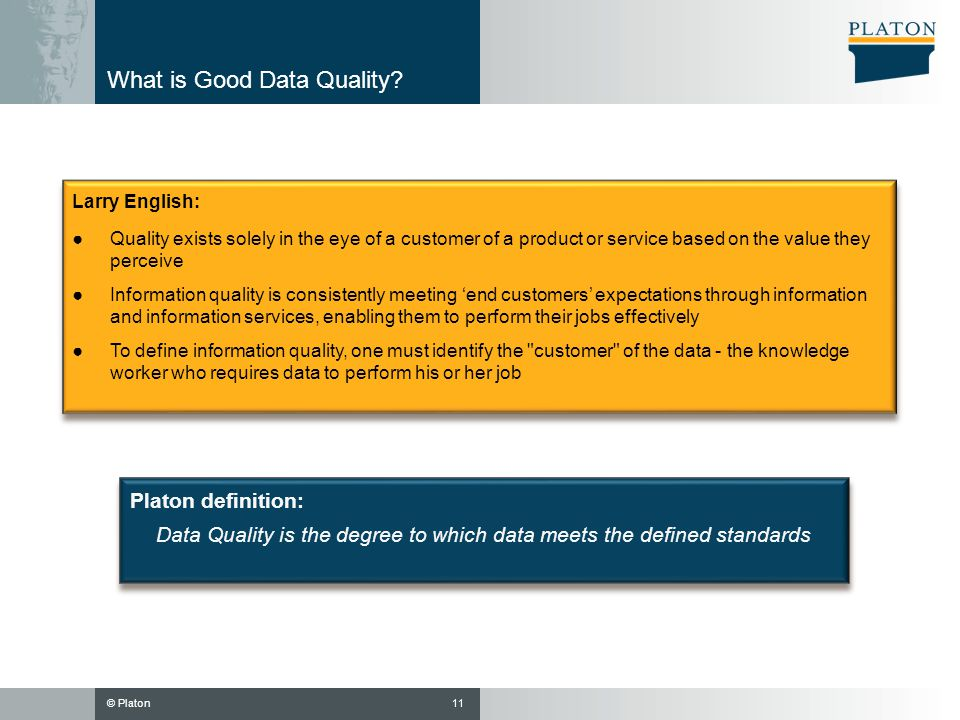 What is Good Data Quality