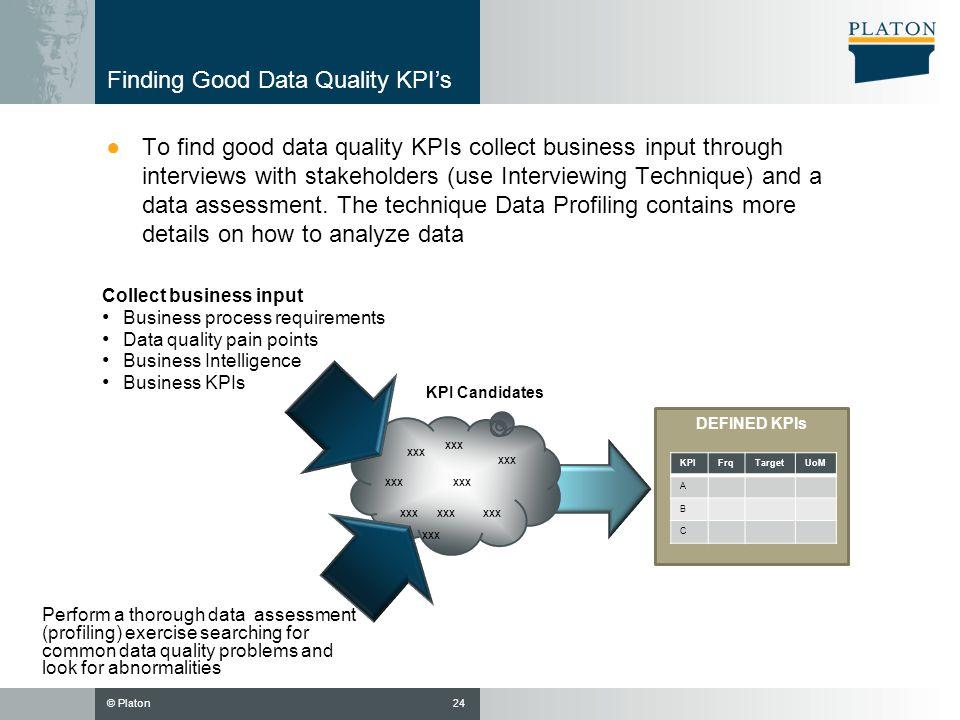 Finding Good Data Quality KPI's