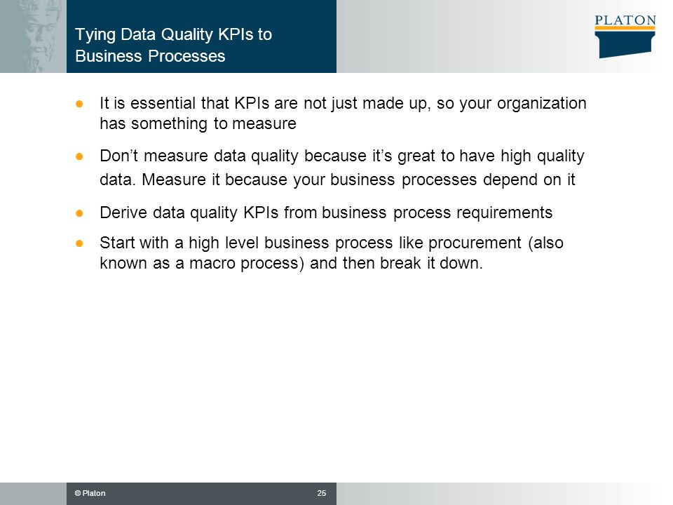 Tying Data Quality KPIs to Business Processes