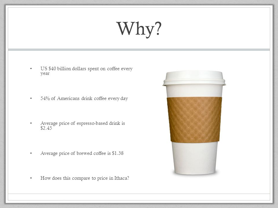 Why US $40 billion dollars spent on coffee every year