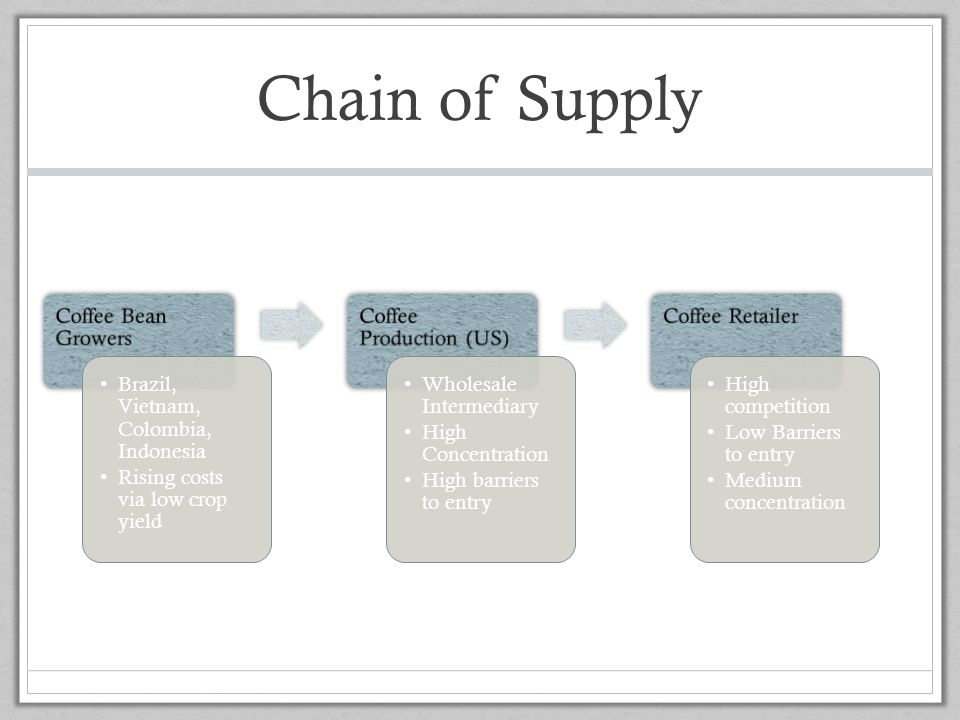 Chain of Supply Coffee Bean Growers