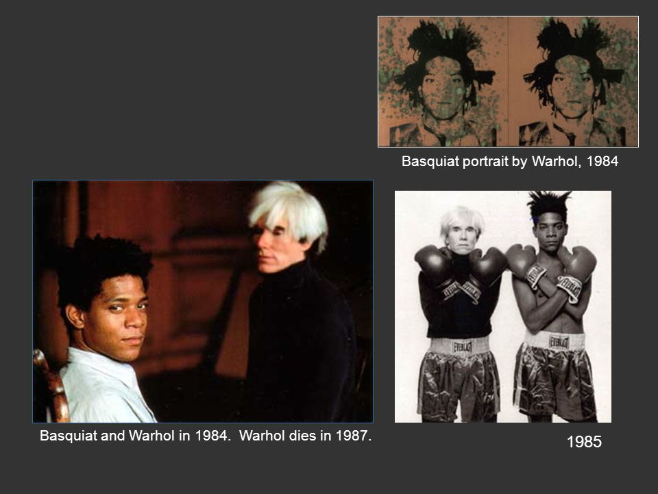 1985 Basquiat portrait by Warhol, 1984