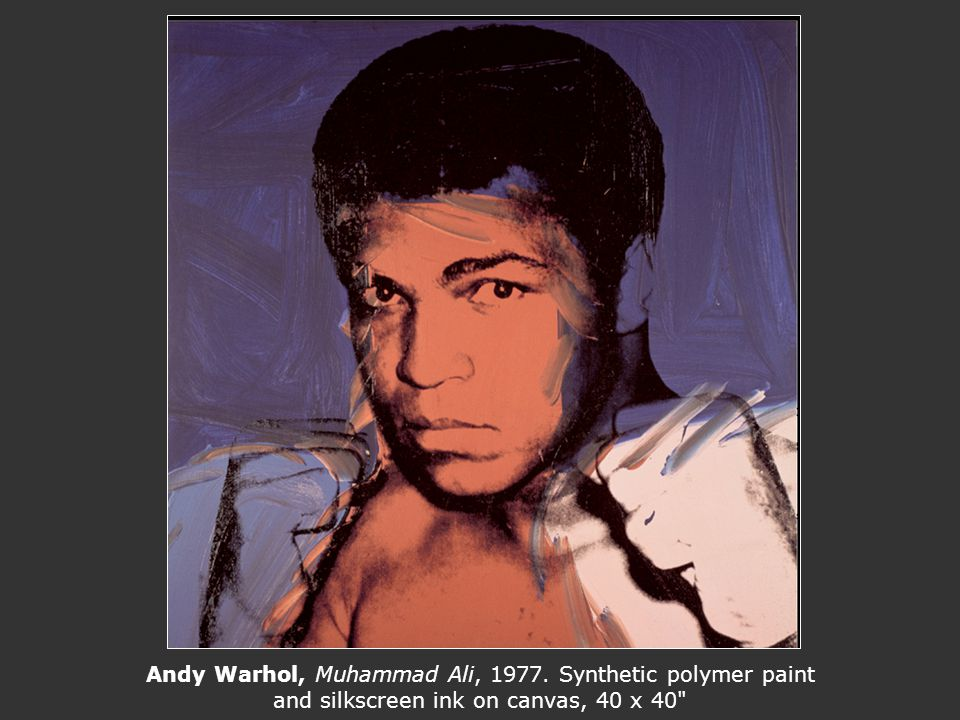 Andy Warhol, Muhammad Ali, 1977. Synthetic polymer paint