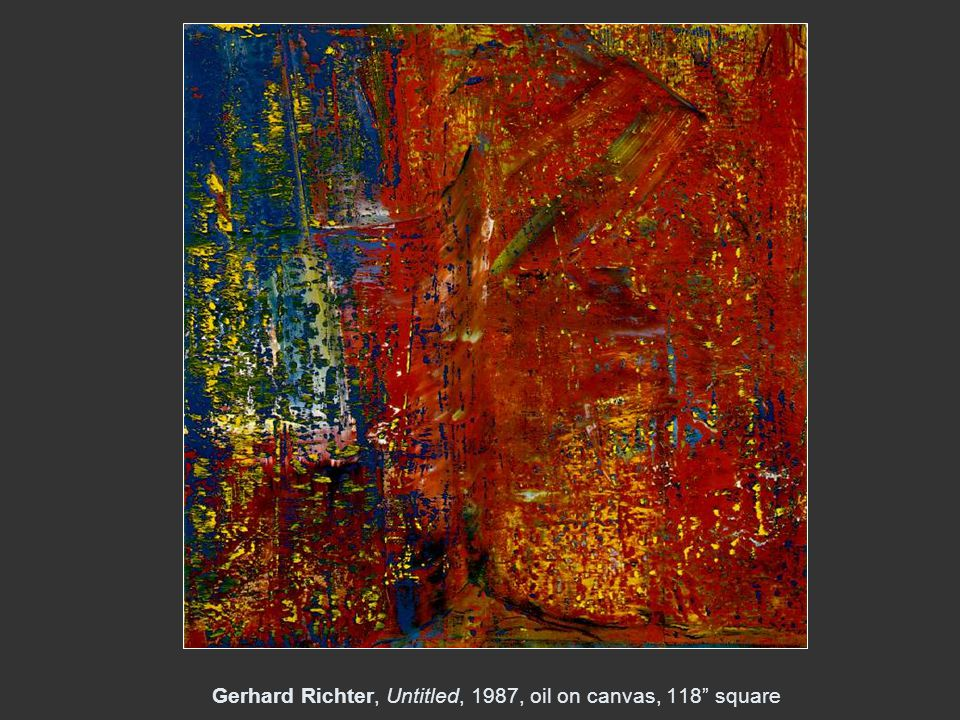 Gerhard Richter, Untitled, 1987, oil on canvas, 118 square