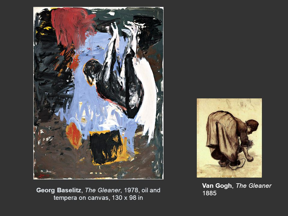 Georg Baselitz, The Gleaner, 1978, oil and tempera on canvas, 130 x 98 in