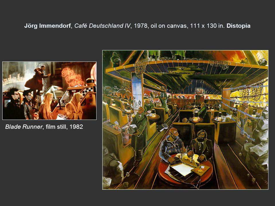 Jörg Immendorf, Café Deutschland IV, 1978, oil on canvas, 111 x 130 in