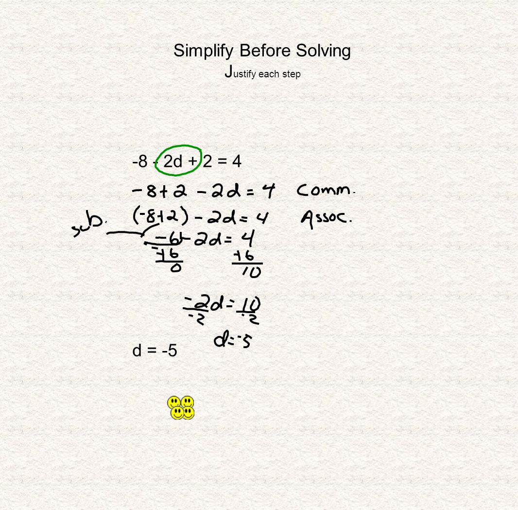 Simplify Before Solving