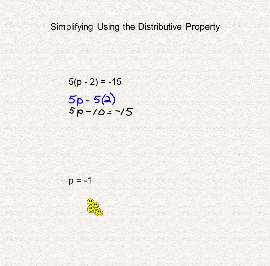Simplifying Using the Distributive Property