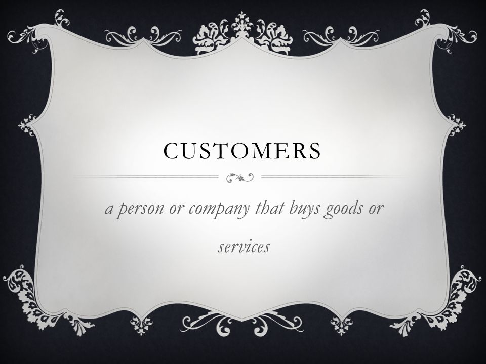 a person or company that buys goods or services