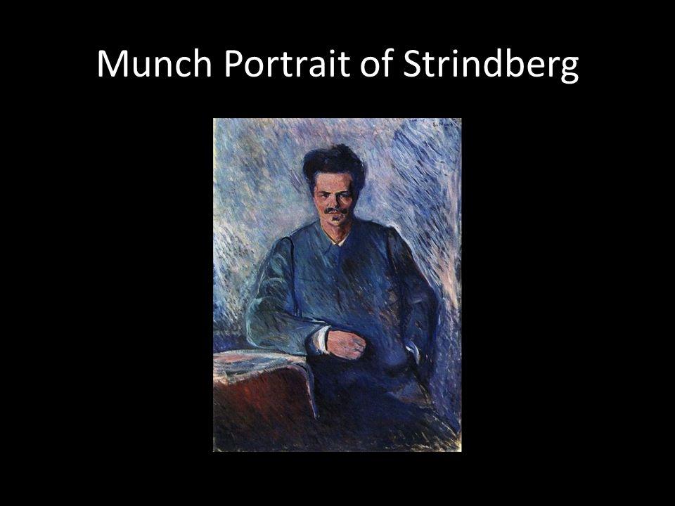 Munch Portrait of Strindberg