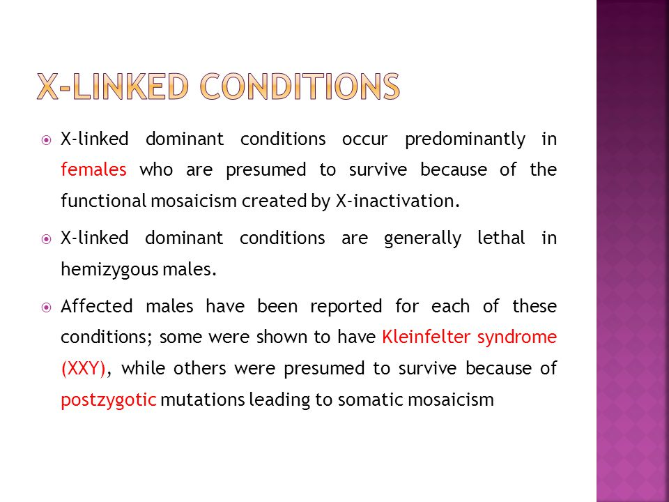 X-linked conditions
